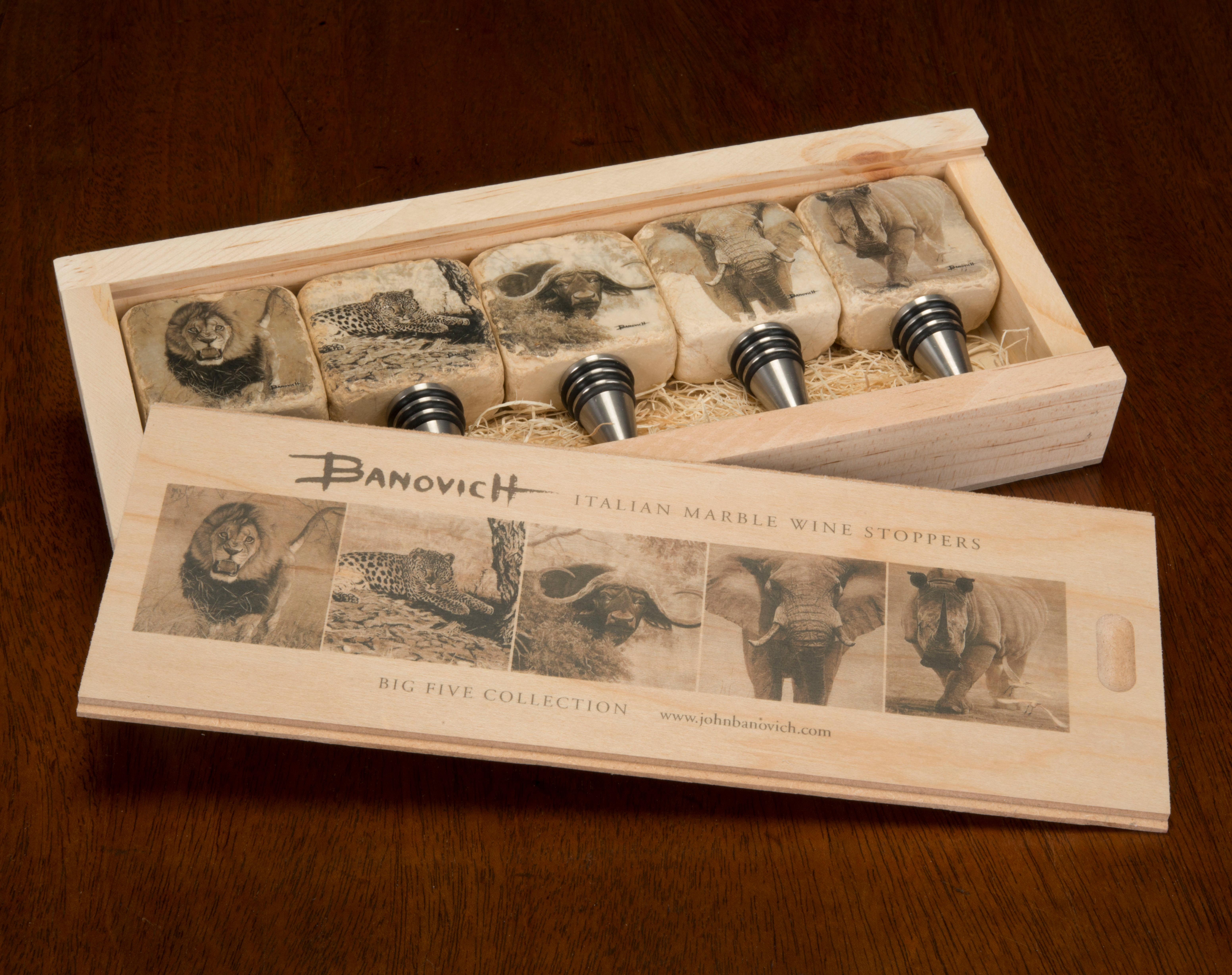 John Banovich: Big Five Collectible Wine Stoppers