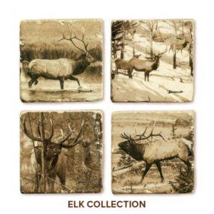 John Banovich: Elk Coasters