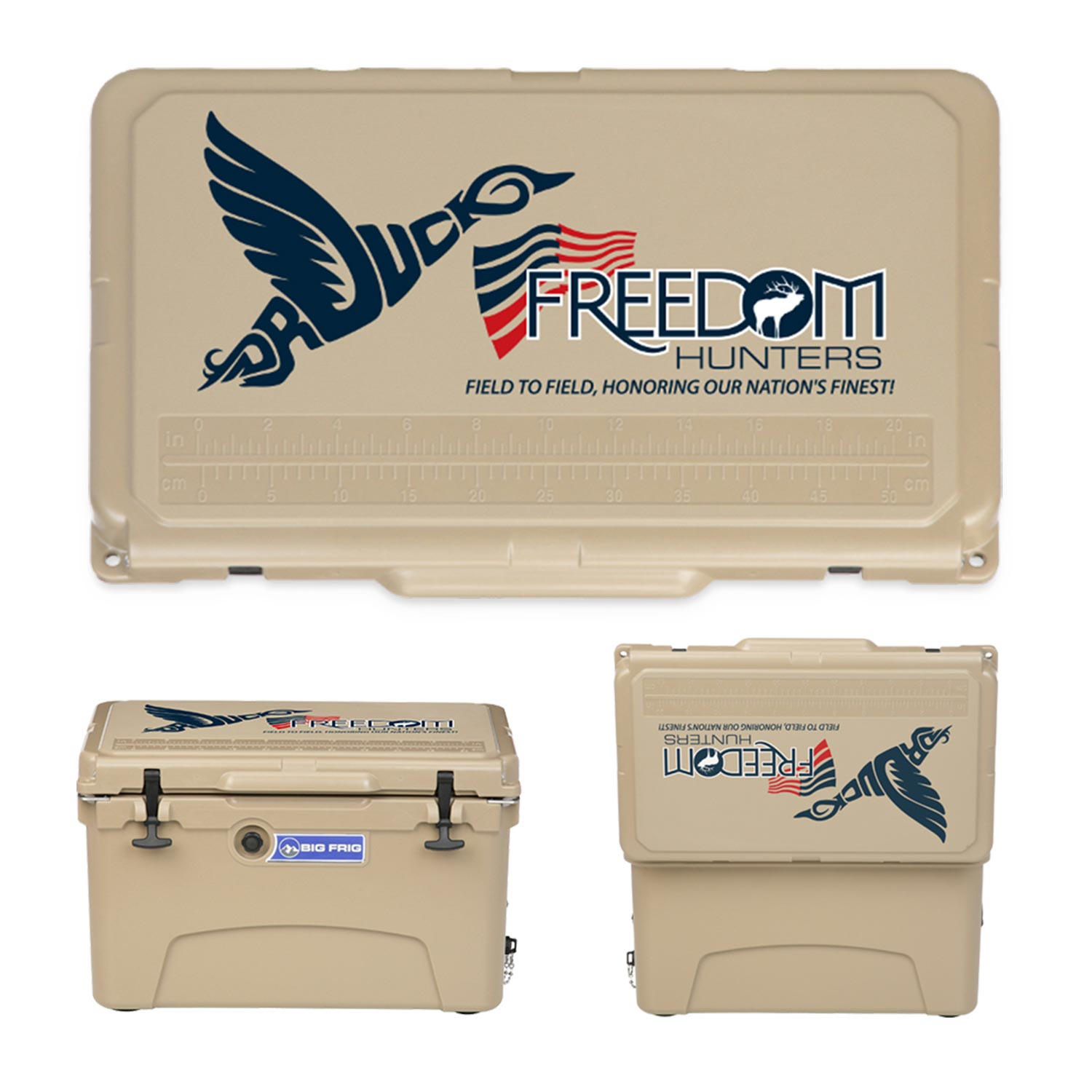 Big Frig and DR. DUCK: FREEDOM HUNTERS COOLERS